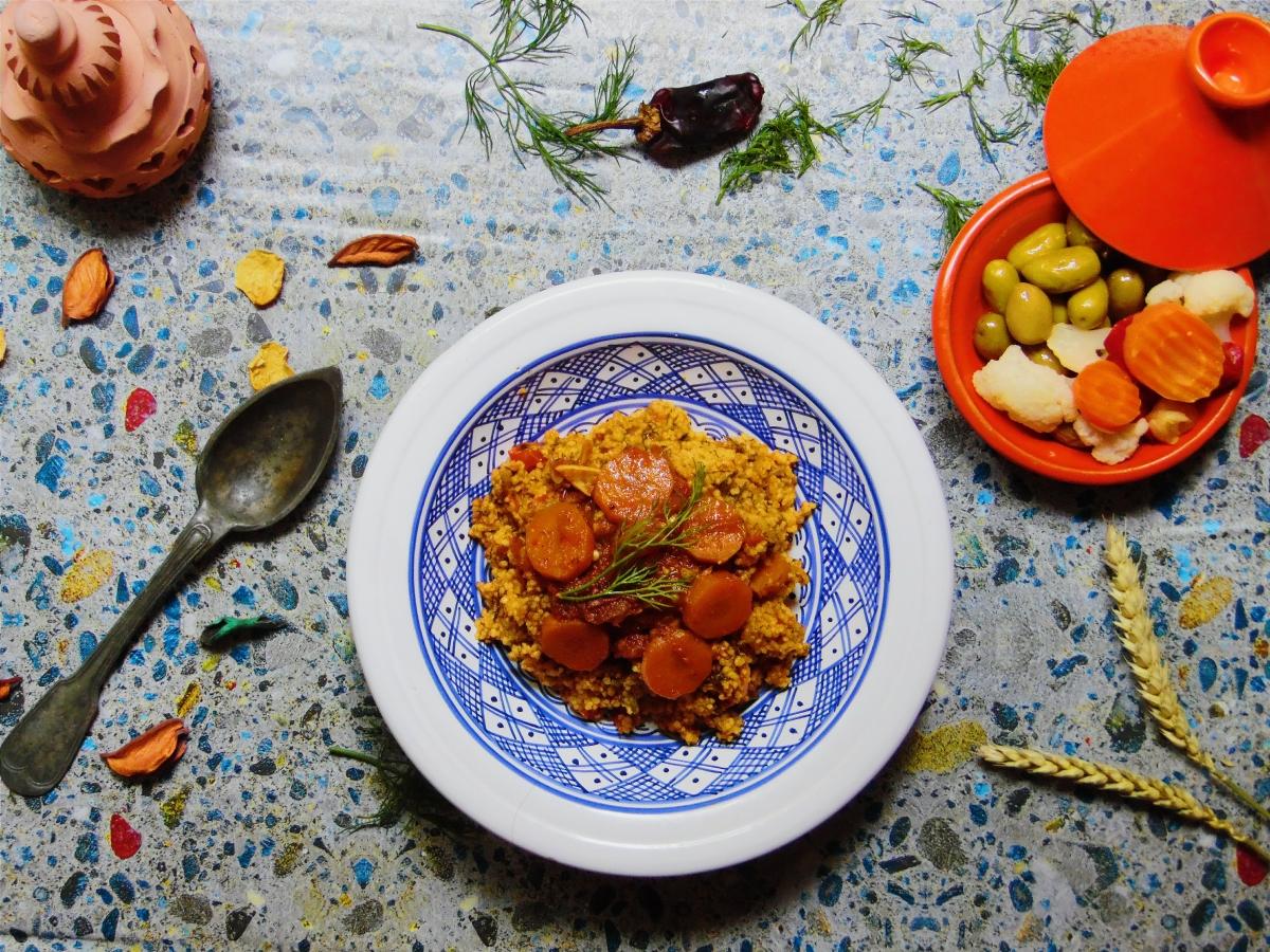 Couscous Végétarien aux fanes de fenouil ( Farfoucha)