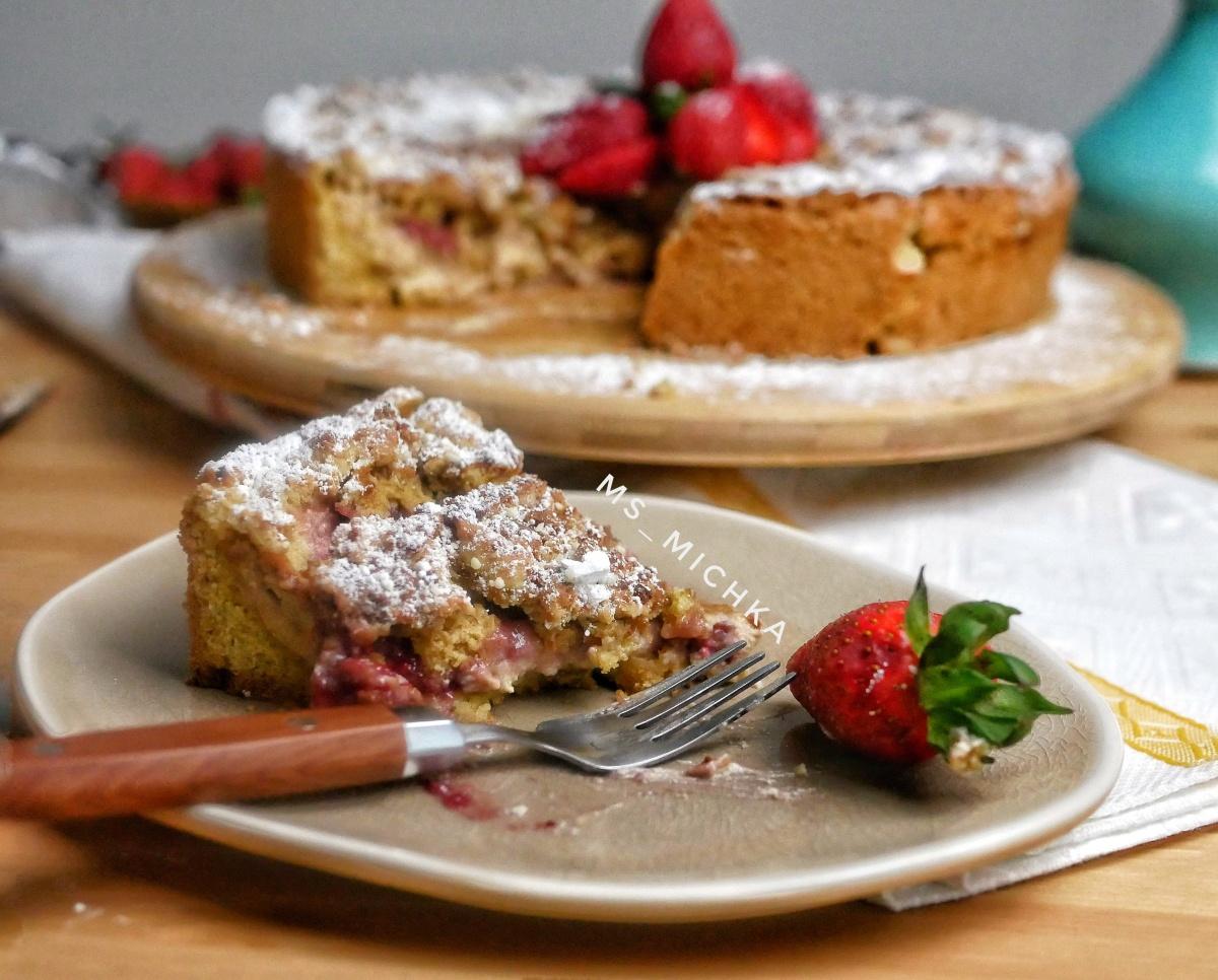 SBRICIOLATA à la fraise - Crumble Cake